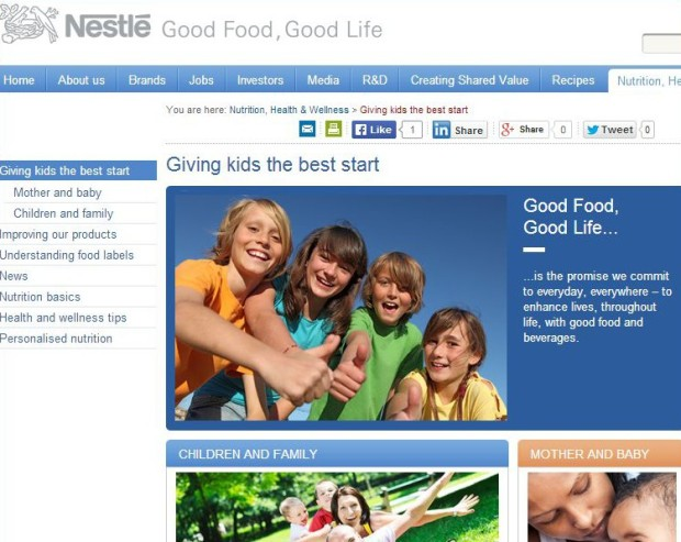 nestle website